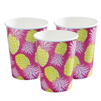 Set 8 kartonnen bekertjes Pineapple - DE GELE FLAMINGO - 1