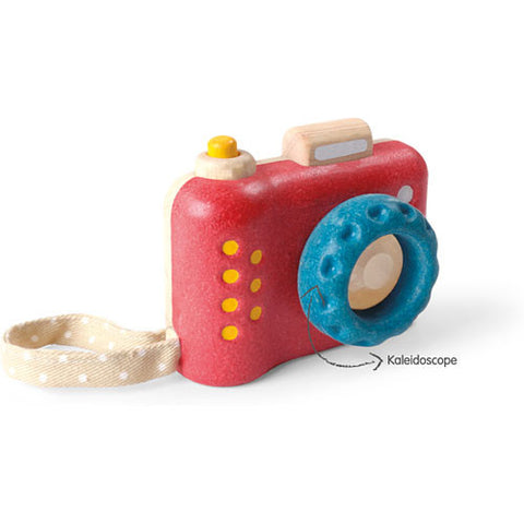 Plantoys Houten camera - DE GELE FLAMINGO - 1