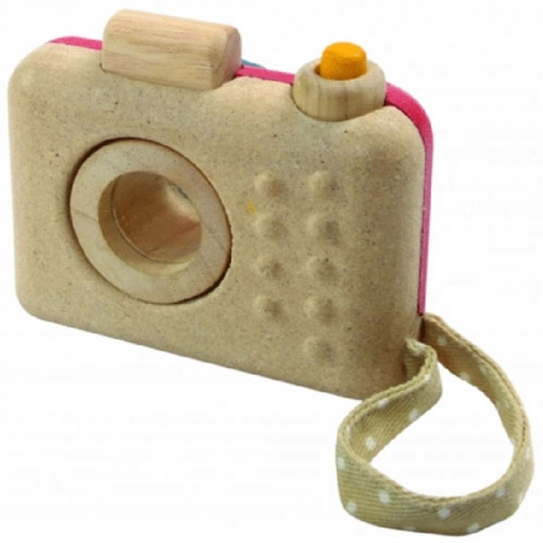 Plantoys Houten camera - DE GELE FLAMINGO - 4