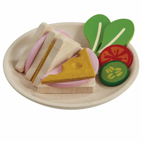 Plantoys Houten Sandwich Set