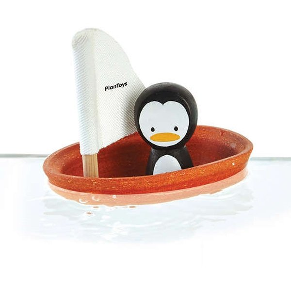 Plantoys badspeelgoed zeilboot penguin