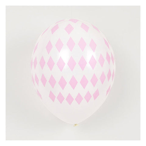 Set 5 ballonnen diamond pink - DE GELE FLAMINGO - 1
