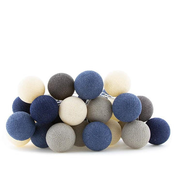 Cotton Ball Lights Lichtslinger 20 stuks - Steel Blue