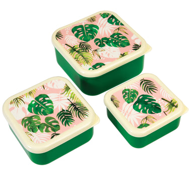 Set 3 snack boxen Tropical palm
