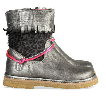 Shoesme lederen winter laarsjes Grafit - DE GELE FLAMINGO - Kids concept store