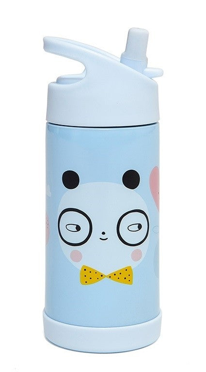 Petit Monkey thermische drinkfles staal - Panda Love