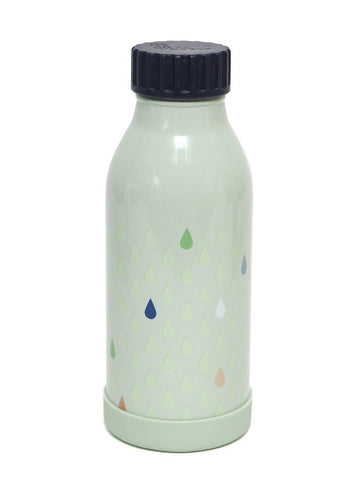 Petit Monkey thermische drinkfles staal - Drops green