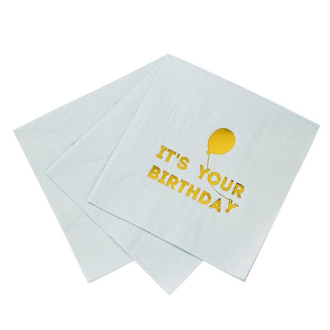 Talking Tables Set 12 papieren servetten It's Your Birthday | Blue