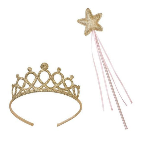 Talking Tables Pink Gold set Tiara & Toverstaf