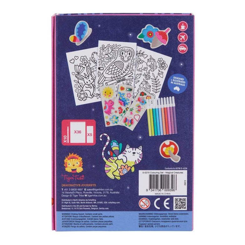 Tiger Tribe meeneem kleur/sticker set - Magical Creatures