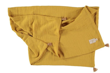 Nobodinoz dekentje 100x70cm Treasure summer blanket - Farniente Yellow
