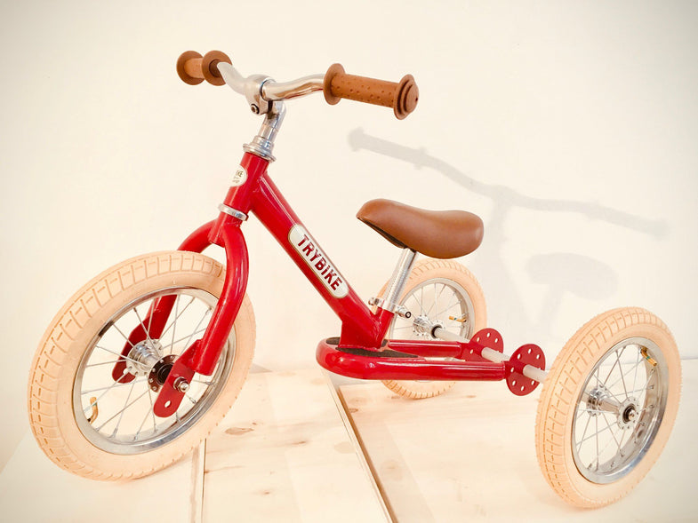 Trybike Steel loopfiets 2-in-1 Vintage Red