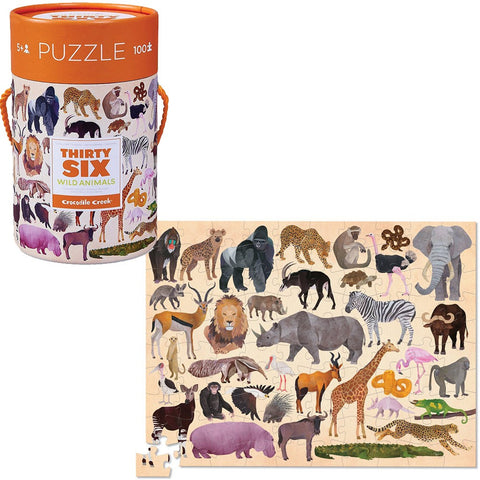 Crocodile Creek puzzel 100 stukken - Wild Animals