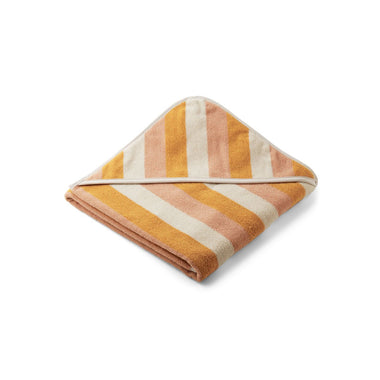 Liewood Louie Badcape | Stripe Peach/ Sandy/ Yellow Mellow