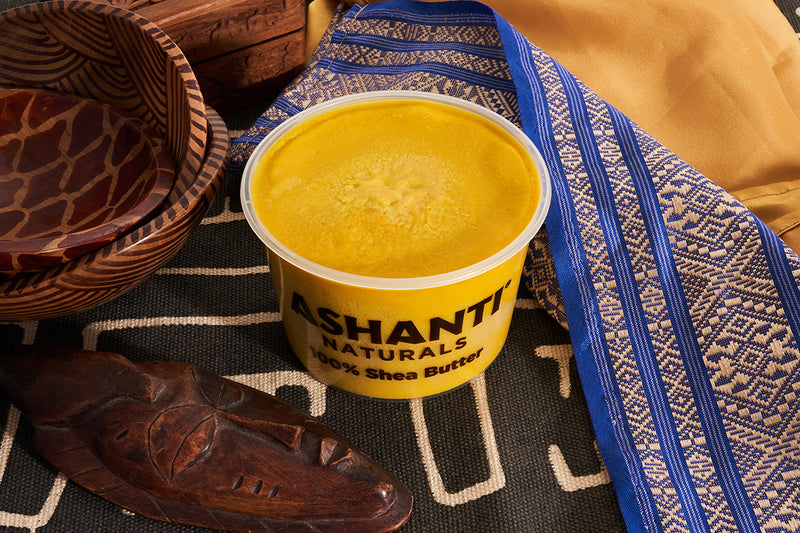 ASHANTI - 100% SOLID YELLOW AFRICAN SHEA BUTTER 16 oz