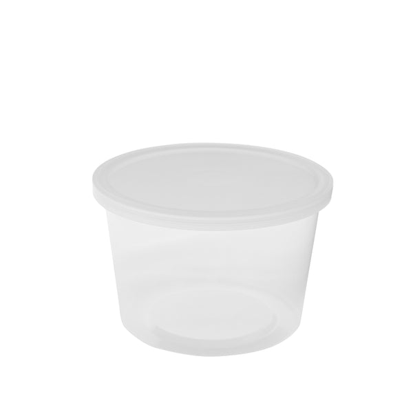 16oz CLEAR CONTAINER WITH TOP (12 PCS-WHOLESALE)