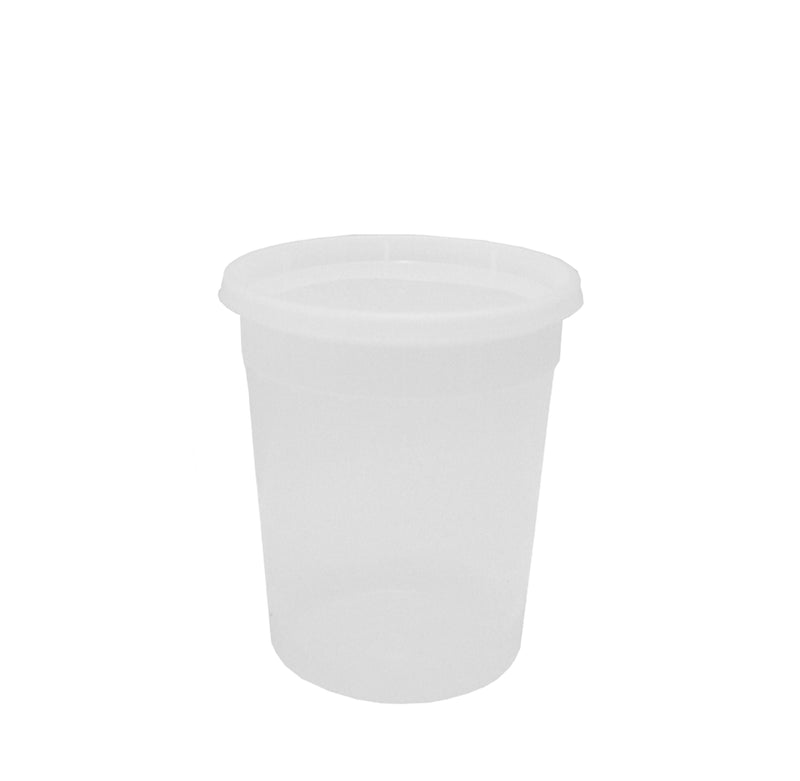 28oz CLEAR CONTAINER WITH TOP (12 PCS): WHOLESALE