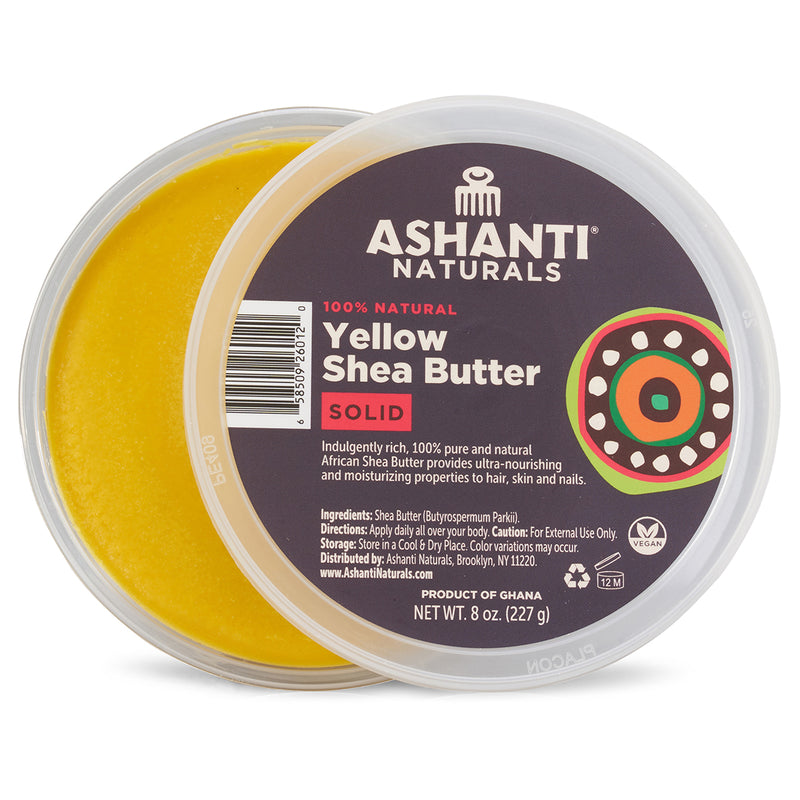 ASHANTI - 100% SOLID YELLOW AFRICAN SHEA BUTTER 8 oz