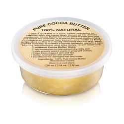 8oz JAR: PURE NATURAL RAW COCOA BUTTER (AFRICAN)