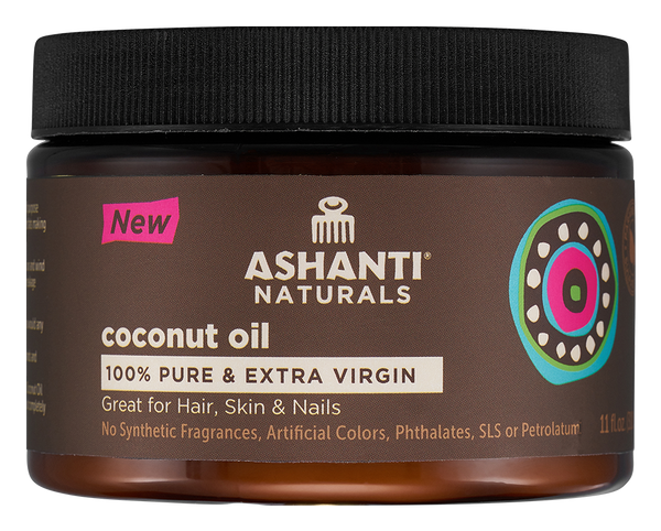 ASHANTI 100% PURE COCONUT OIL - 11 OZ.