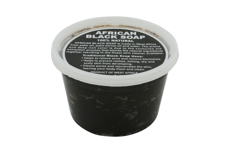 16oz JAR: PURE RAW AFRICAN BLACK SOAP FROM NIGERIA (AFRICA)
