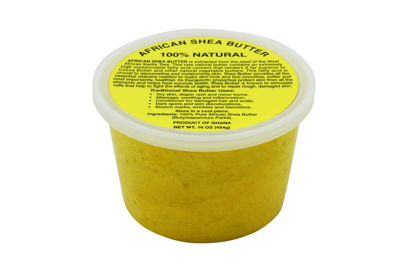 PURE NATURAL YELLOW AFRICAN SHEA BUTTER FROM AFRICA: 15oz JAR