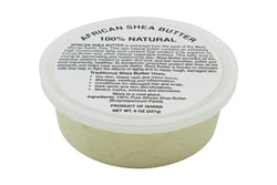 PURE NATURAL WHITE AFRICAN SHEA BUTTER FROM AFRICA: 8oz JAR
