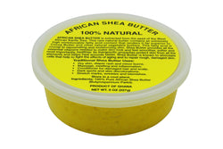 PURE NATURAL YELLOW AFRICAN SHEA BUTTER FROM AFRICA: 8oz JAR
