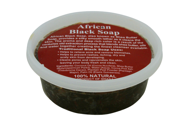 8oz JAR: PURE NATURAL AFRICAN SHEA BUTTER SOAP FROM GHANA