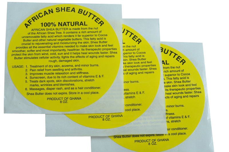 8oz: 100% NATURAL YELLOW SHEA BUTTER LABEL WHOLESALE