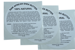 15oz: 100% PURE RAW WHITE SHEA BUTTER LABEL (50 PCS): WHOLESALE