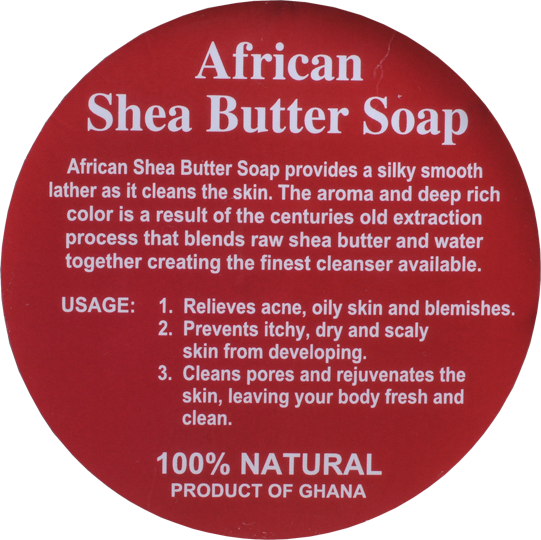 PURE NATURAL AFRICAN SHEA BUTTER SOAP LABEL (50 PCS-WHOLESALE)