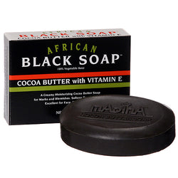 AFRICAN COCOA BUTTER SOAP WITH VITAMIN E BY MADINA (6 PCS)