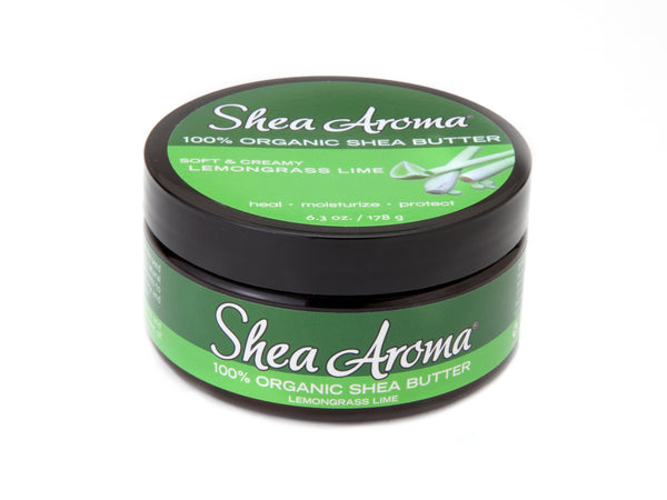 SHEA AROMA: 100% PURE WHIPPED SHEA BUTTER: LEMONGRASS LIME