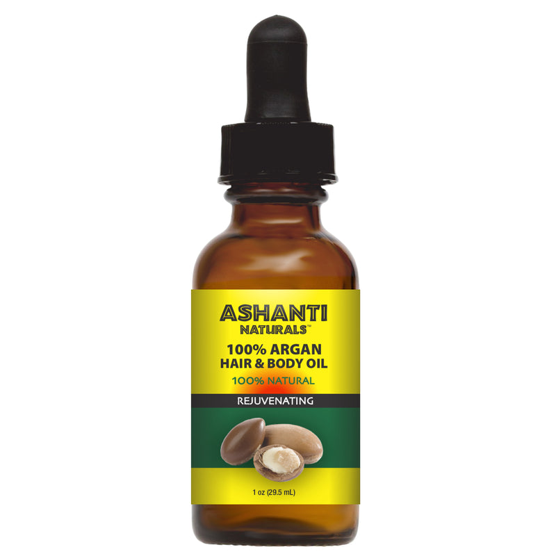 ASHANTI NATURALS HAIR & BODY OIL - ARGAN OIL 1 OZ