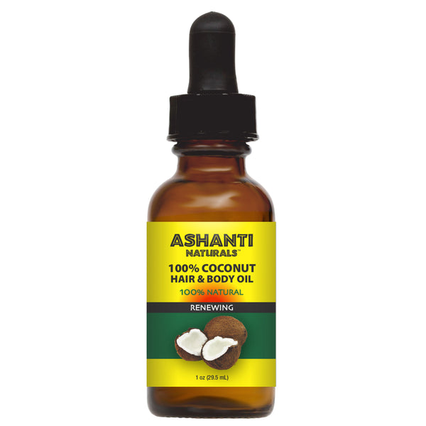 ASHANTI NATURALS HAIR & BODY OIL - COCONUT OIL 1 OZ