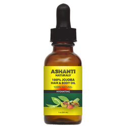 ASHANTI NATURALS HAIR & BODY OIL - JOJOBA OIL 1 OZ