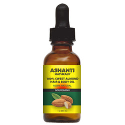 ASHANTI NATURALS HAIR & BODY OIL - SWEET ALMOND OIL 1 OZ