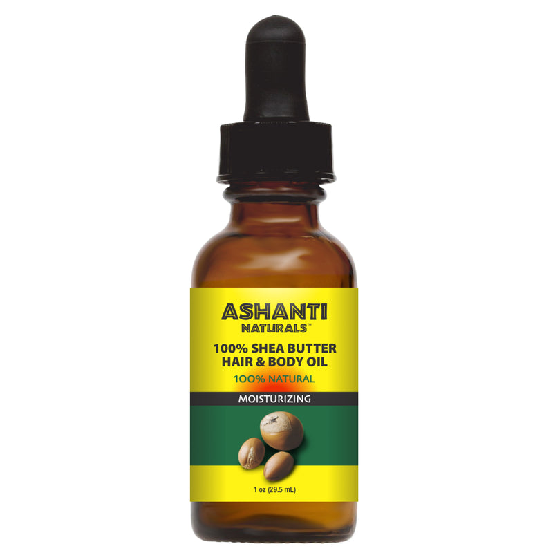 ASHANTI NATURALS HAIR & BODY OIL - SHEA BUTTER OIL 1 OZ