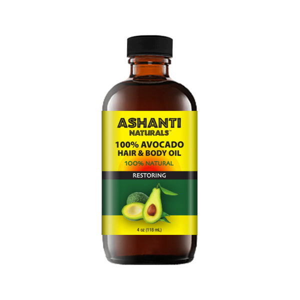 ASHANTI NATURALS HAIR & BODY OIL - AVOCADO OIL 4 OZ