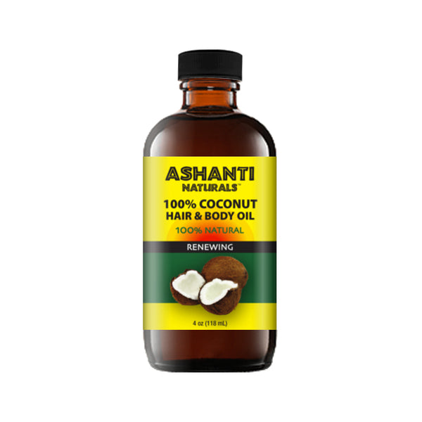 ASHANTI NATURALS HAIR & BODY OIL - COCONUT OIL 4 OZ