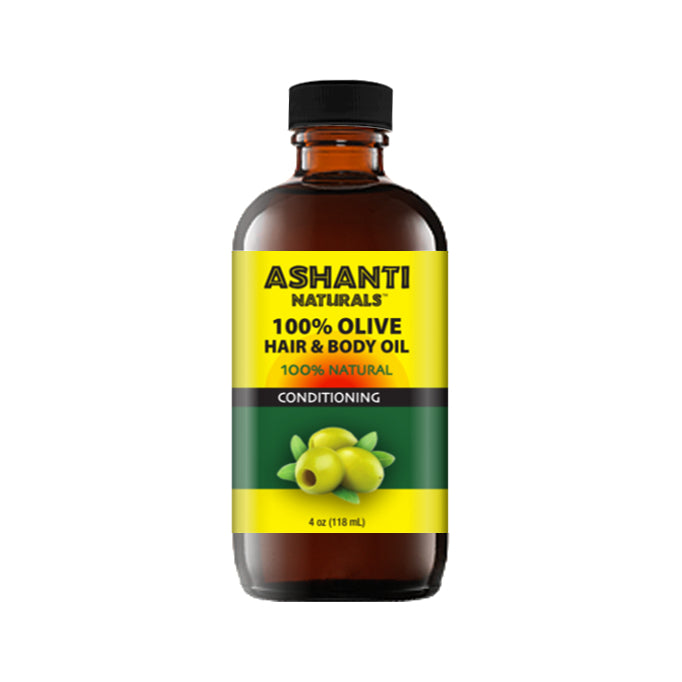 ASHANTI NATURALS HAIR & BODY OIL - OLIVE OIL 4 OZ