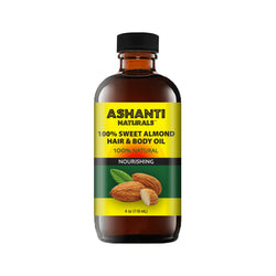 ASHANTI NATURALS HAIR & BODY OIL - SWEET ALMOND OIL 4 OZ