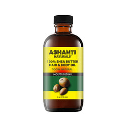ASHANTI NATURALS HAIR & BODY OIL - SHEA BUTTER OIL 4 OZ