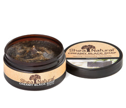 SHEA NATURAL CREAMY AFRICAN BLACK SOAP - 8 OZ