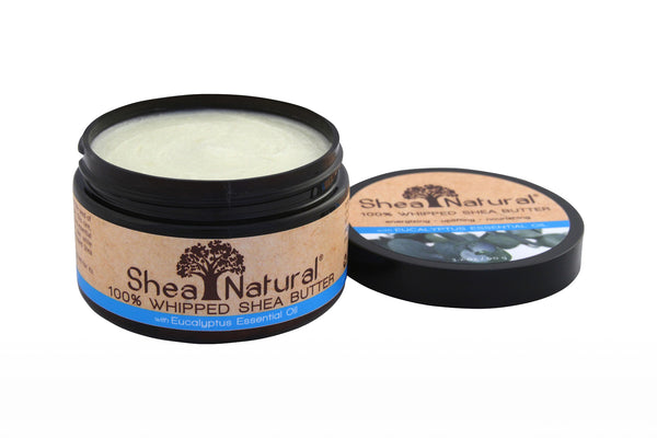 WHIPPED UNREFINED SHEA BUTTER - Eucalyptus Essential Oil 3.2 oz