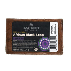ASHANTI - AFRICAN BLACK SOAP BAR - 4 OZ- LAVENDER