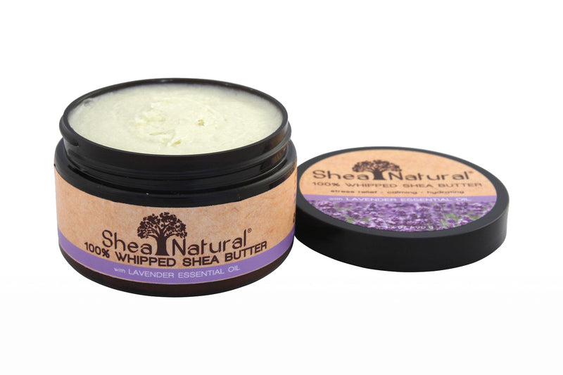 WHIPPED UNREFINED SHEA BUTTER - Lavender Essential Oil 3.2 oz