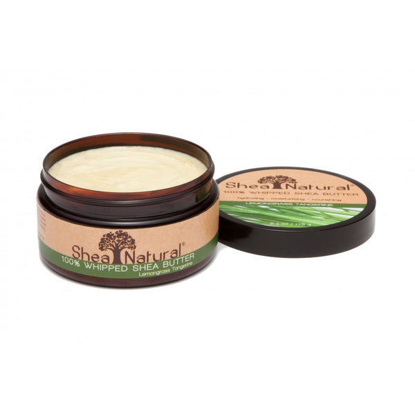 WHIPPED UNREFINED SHEA BUTTER - LEMONGRASS TANGERINE 6.3 OZ