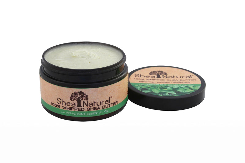 WHIPPED UNREFINED SHEA BUTTER - Peppermint Essential Oil 3.2 oz